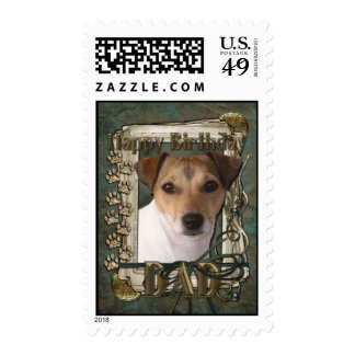Happy Birthday - Stone Paws - Jack Russell - Dad Postage