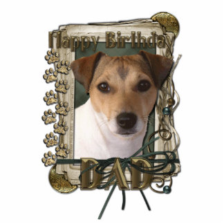 Happy Birthday - Stone Paws - Jack Russell - Dad Statuette