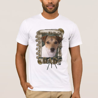Happy Birthday - Stone Paws - Jack Russell - Dad T-Shirt