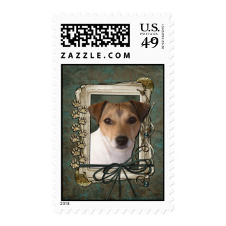 Happy Birthday - Stone Paws - Jack Russell Postage Stamps