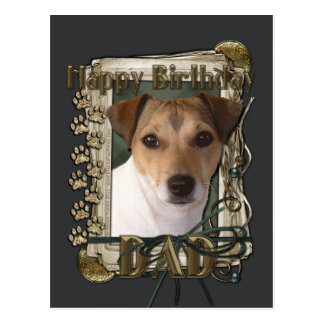 Happy Birthday - Stone Paws - Jack Russell Postcard