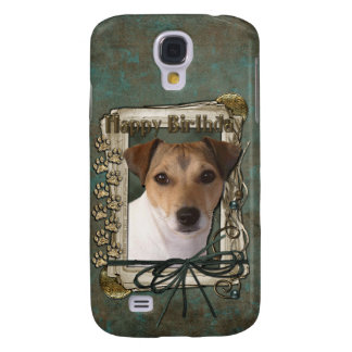 Happy Birthday - Stone Paws - Jack Russell Samsung Galaxy S4 Cover