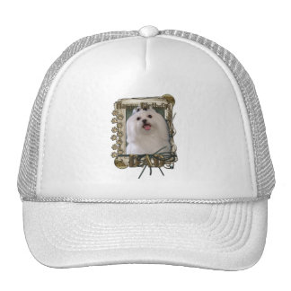 Happy Birthday - Stone Paws - Maltese - Dad Trucker Hat