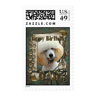 Happy Birthday - Stone Paws - Poodle - Apricot Dad Stamps