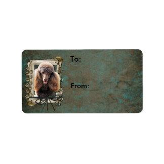 Happy Birthday - Stone Paws - Poodle - Chocolate Label