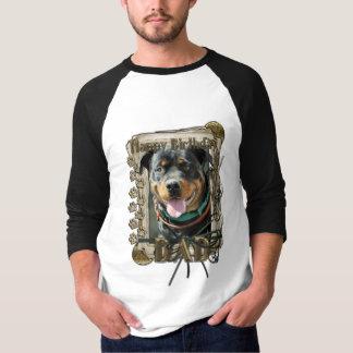 Happy Birthday - Stone Paws -Rottie SambaParTi Dad T-Shirt