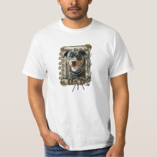 Happy Birthday - Stone Paws -Rottie SambaParTi Dad T-Shirt
