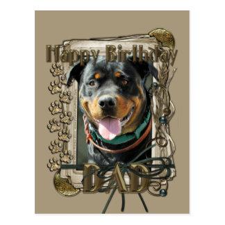 Happy Birthday - Stone Paws -Rottweiler SambaParTi Post Cards