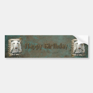 Happy Birthday - Stone Paws - Saluki Bumper Sticker