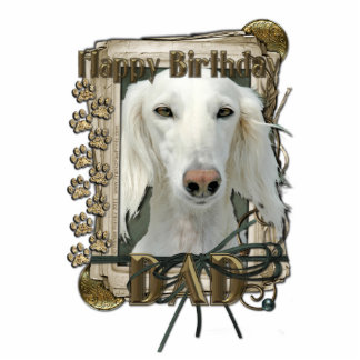 Happy Birthday - Stone Paws - Saluki - Dad Cutout