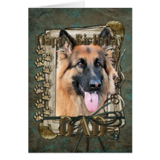 Happy Birthday - Stone Paws - Shepherd -Chance Dad Card