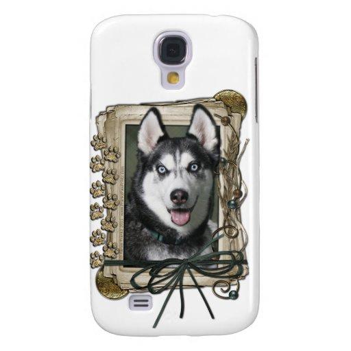 Happy Birthday - Stone Paws - Siberian Husky Samsung Galaxy S4 Cases