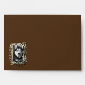 Happy Birthday - Stone Paws - Siberian Husky Envelope