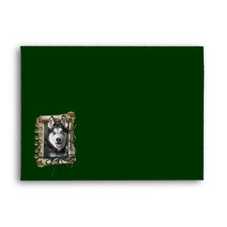 Happy Birthday - Stone Paws - Siberian Husky Envelopes