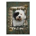 Happy Birthday - Stone Paws - Tibetan Terrier Cards