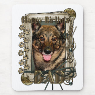 Happy Birthday - Stone Paws - Vallhund - Dad Mouse Pad