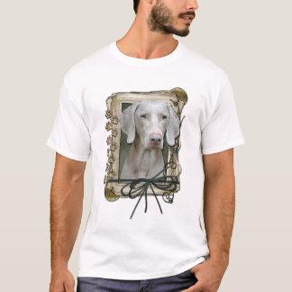 Happy Birthday - Stone Paws - Weimeraner T-Shirt