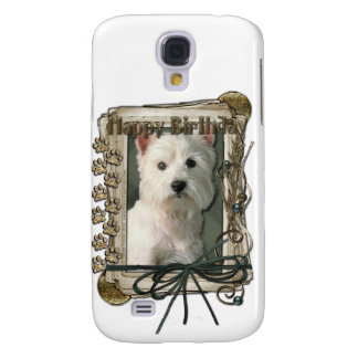 Happy Birthday - Stone Paws -West Highland Terrier Galaxy S4 Case