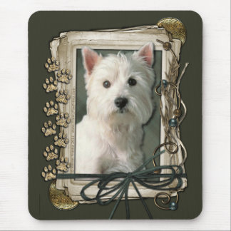 Happy Birthday - Stone Paws -West Highland Terrier Mouse Pad