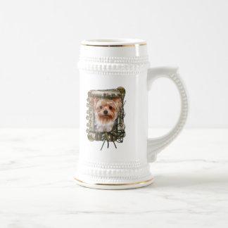 Happy Birthday - Stone Paws -Yorkshire Terrier Dad Beer Stein