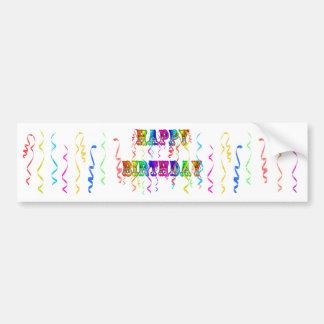 Happy Birthday Streamers Bumper Sticker