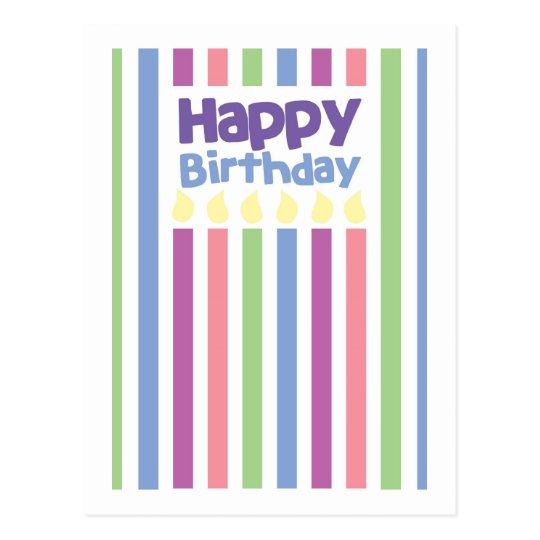 Happy Birthday stripey card