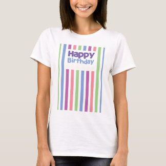 Happy Birthday stripey card T-Shirt