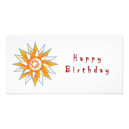 Happy Birthday Sun Energy Chakra Card