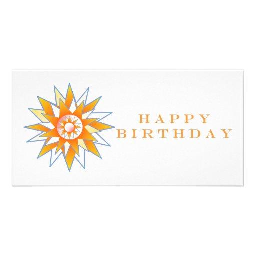 Happy Birthday Sun Energy Chakra Custom Photo Card