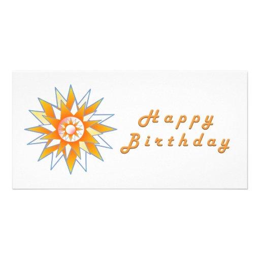 Happy Birthday Sun Energy Chakra Customized Photo Card