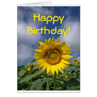 Happy Birthday Sunflower Card