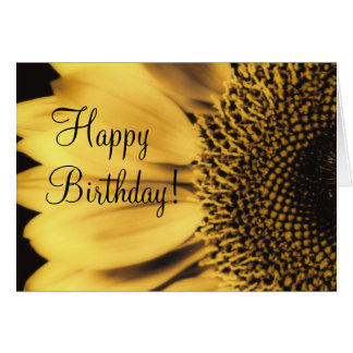 Happy Birthday Sunflower Card, template, personali Card