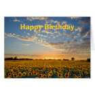 Happy Birthday Sunflowers at Sunset Card