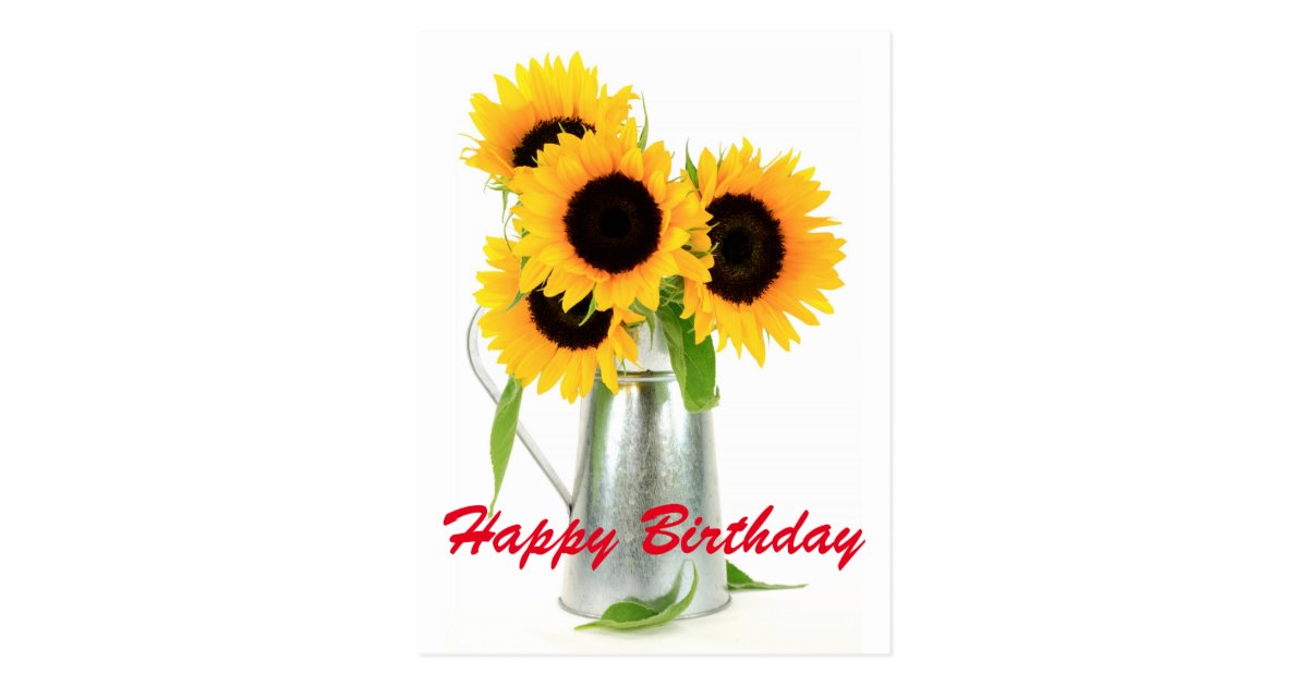 happy birthday sunflowers bouquet postcard rd838a3004e404f58998bc2195111354a vgbaq 8byvr 630 - Country Wedding Shirts