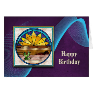 HAPPY BIRTHDAY - SUNRISE/INDIAN COLLECTION CARD