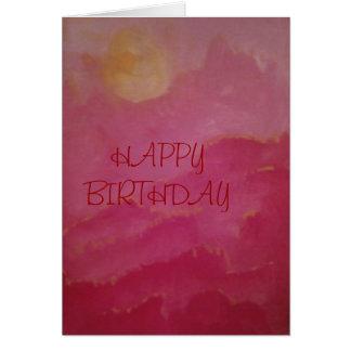 HAPPY BIRTHDAY SUNRISE/SUNSET CARD