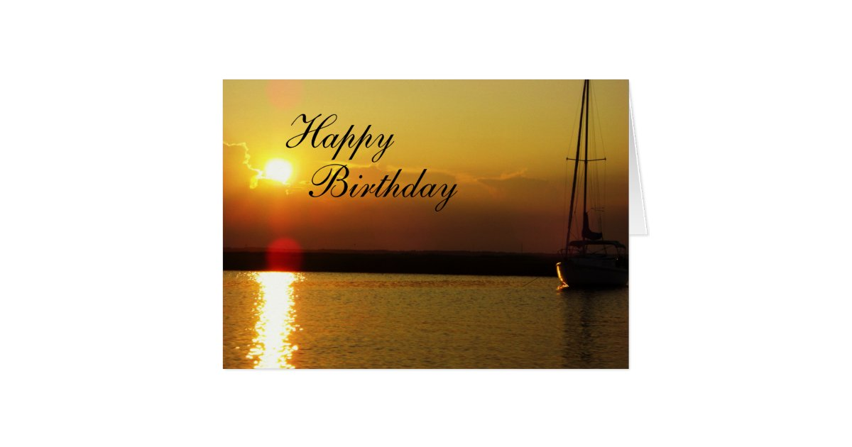 Happy Birthday Sunset Card | Zazzle.com
