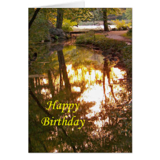 Happy Birthday, Sunset Reflection Card