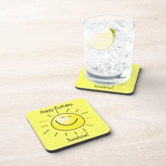 Happy Birthday, Sunshine! Drink Coaster