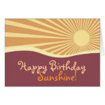 Happy Birthday Sunshine Hills Greeting Card