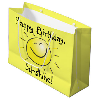 Happy Birthday Sunshine Large Gift Bag