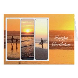 Happy birthday surfer dad greeting card