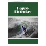 Happy Birthday Surfer Greeting Card