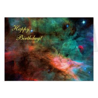 Happy Birthday - Swan Nebula Centre Card