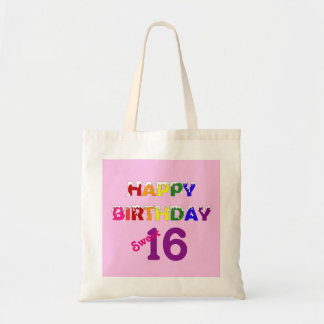 Happy Birthday Sweet 16 Canvas Bag