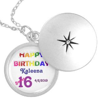 Happy Birthday Sweet 16 Custom Jewelry