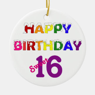 Happy Birthday Sweet 16 Christmas Ornament