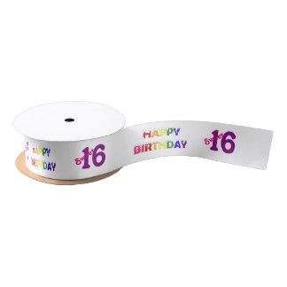 Happy Birthday Sweet 16 Satin Ribbon