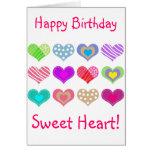 Happy Birthday Sweet Heart Card