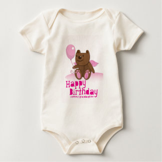 Happy Birthday Sweetest Grandaughter Baby Bodysuit